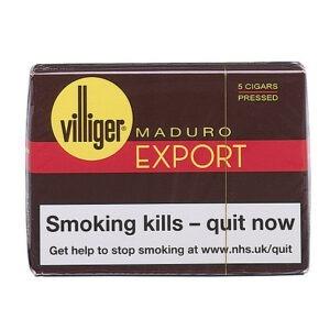 Villiger Export Pressed Maduro Cigars Pack of 5