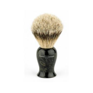 Plaza Imitation Black Marble Silvertip Badger brush